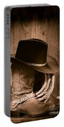 Cowboy Hat And Boots Portable Battery Charger