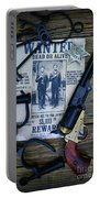 Cowboy - Law And Order Portable Battery Charger by Paul Ward