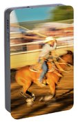 Cowboys Ride And Rope Cattle During San Portable Battery Charger