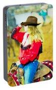 Cowgirl Waiting Portable Battery Charger