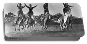 Cowgirls At The Rodeo Portable Battery Charger