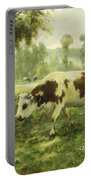 Cows At Pasture  Portable Battery Charger