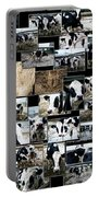 Cows Collage Portable Battery Charger