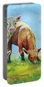 Cows Landscape Portable Battery Charger