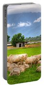 Cows On The Green Field Portable Battery Charger