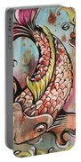 Coy Koi Portable Battery Charger by Shadia Derbyshire