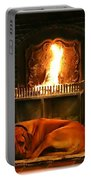 Cozy By The Fire Portable Battery Charger