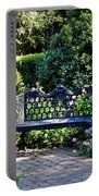 Cozy Southern Garden Bench Portable Battery Charger by Carol Groenen