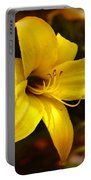 Cozy Yellow Daylily Portable Battery Charger