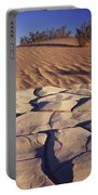 Cracked Mud - Sand Ripples Portable Battery Charger