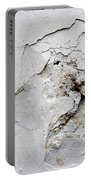 Cracked Stucco - Grunge Background Portable Battery Charger
