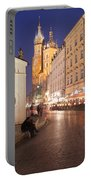 Cracow By Night In Poland Portable Battery Charger