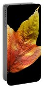 Cranberry Tree Leaf Isolated On White Portable Battery Charger