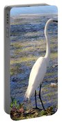 Crane At Pond Portable Battery Charger