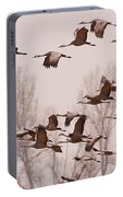 Cranes Across The Sky Portable Battery Charger