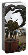 Crap Sculpture Fisherman's Wharf San Francisco Portable Battery Charger