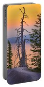 Crater Lake Trees Portable Battery Charger by Inge Johnsson