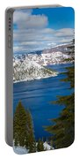 Crater Lake Winter Panorama Portable Battery Charger