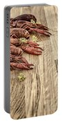 Crayfish On Wooden Platter. Portable Battery Charger