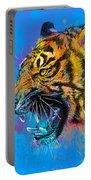 Crazy Tiger Portable Battery Charger by Olga Shvartsur