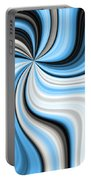 Creamy Blue Graphic Portable Battery Charger