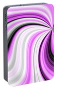 Creamy Pink Graphic Portable Battery Charger