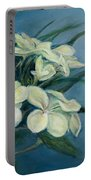 Creamy Plumeria Portable Battery Charger