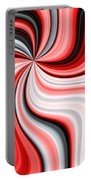 Creamy Red Graphic Portable Battery Charger