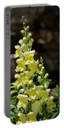Creamy Yellow Snapdragon Portable Battery Charger