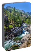 Creek Flowing Through Rocks, Icicle Portable Battery Charger