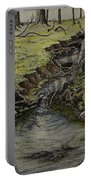 Creek  Portable Battery Charger by Janet Felts