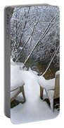 Creekside Chairs In The Snow 2 Portable Battery Charger