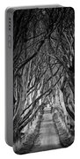 Creepy Dark Hedges Portable Battery Charger