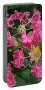 Crepe Myrtle Macro Portable Battery Charger