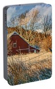 Crescent Barn In Winter Portable Battery Charger