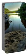 Crescent Lake Sunset Portable Battery Charger