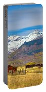Crested Butte Autumn Landscape Panorama Portable Battery Charger