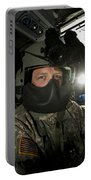 Crew Chief In A Uh-60 Black Hawk Portable Battery Charger