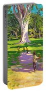 Cricket Match St George Granada Portable Battery Charger by Andrew Macara
