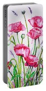Crimson Poppies Portable Battery Charger