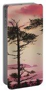 Crimson Sunset Splendor Portable Battery Charger by James Williamson