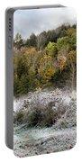 Crisp Morning Frost Hillside Landscape Portable Battery Charger