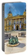 Croatian Nationa Theater In Zagreb Portable Battery Charger