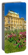 Croatian National Theatre Square In Zagreb Portable Battery Charger