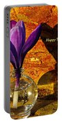 Crocus Floral Birthday Card Portable Battery Charger