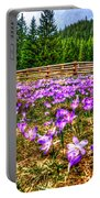 Crocus Flower Valley Portable Battery Charger