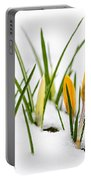 Crocuses In Snow Portable Battery Charger