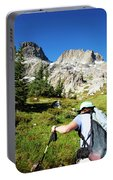 Cropped Rear View Of A Female Hiker Portable Battery Charger