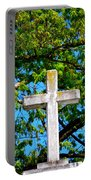 Cross At The Monastery Of The Holy Spirit Portable Battery Charger