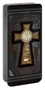 Cross In Leather Portable Battery Charger